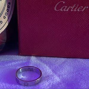 Cartier 3.6mm White Gold Love Wedding Band